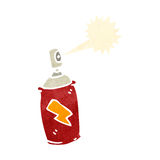Retro cartoon spray paint can Stock Photo