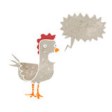 Retro cartoon squawking chicken Royalty Free Stock Photos