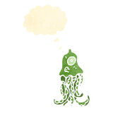 Retro cartoon squid Royalty Free Stock Images