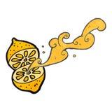 Retro cartoon squirting lemon Stock Photography
