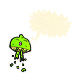 Retro cartoon squirting lime Royalty Free Stock Images