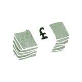 Retro cartoon stack of money Royalty Free Stock Photography