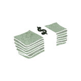 retro cartoon stack of money Royalty Free Stock Photos