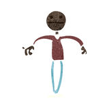 Retro cartoon stick man shrugging shoulders Royalty Free Stock Photos
