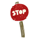 Retro cartoon stop sign Royalty Free Stock Images