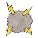 retro cartoon storm cloud vector illustration