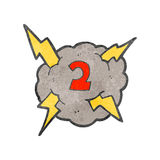 Retro cartoon storm cloud with number two Stock Photos