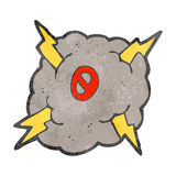 Retro cartoon storm cloud with number zero Stock Images