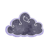 Retro cartoon storm cloud Stock Image