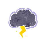 Retro cartoon storm cloud Stock Photography