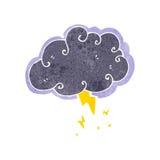 Retro cartoon stormcloud symbol Stock Photography