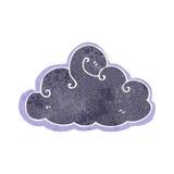Retro cartoon stormcloud symbol Royalty Free Stock Images