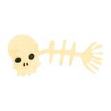 Retro cartoon strange fish bones. Retro cartoon illustration. On plain white background Royalty Free Stock Image
