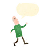 Retro cartoon strutting dad Stock Photography