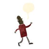 Retro cartoon strutting old man Royalty Free Stock Photos