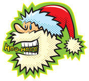 Retro cartoon style Santa. Vector illustration, without gradients, great for printing, easy to handle royalty free illustration