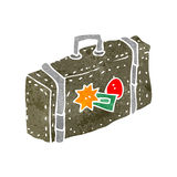 retro cartoon suitcase Stock Photo