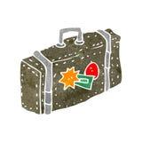 retro cartoon suitcase Stock Photo