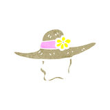 Retro cartoon summer hat Royalty Free Stock Photo
