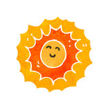 retro cartoon sun character Royalty Free Stock Images