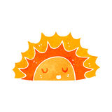 retro cartoon sun character Royalty Free Stock Photos