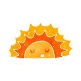 Retro cartoon sun character Royalty Free Stock Photos