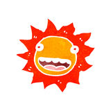 retro cartoon sun Stock Images