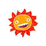 retro cartoon sun Royalty Free Stock Photography