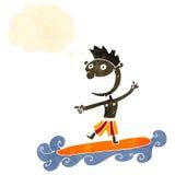 Retro cartoon surfer dude Stock Photos