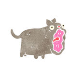 Retro cartoon surprised cat Stock Photo