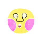 retro cartoon surprised face symbol Royalty Free Stock Photography