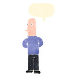Retro cartoon suspicious man Royalty Free Stock Image