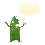 Retro cartoon swamp monster Stock Photo