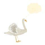 retro cartoon swan Stock Photos