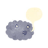 retro cartoon talking cloud Royalty Free Stock Photography