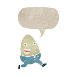 Retro cartoon talking egg Royalty Free Stock Photography