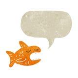 retro cartoon talking fish Stock Images