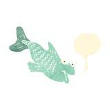 retro cartoon talking fish Royalty Free Stock Photos