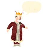 Retro cartoon talking king Stock Photography