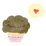 Retro cartoon talking muffin Royalty Free Stock Images