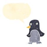 retro cartoon talking penguin Stock Photography