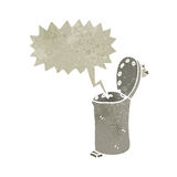 Retro cartoon talking rubbish bin Royalty Free Stock Image