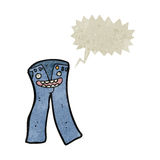 Retro cartoon talking trousers Royalty Free Stock Images
