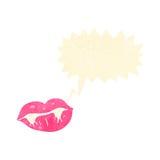 retro cartoon talking vampire lips Stock Photo
