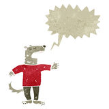 Retro cartoon talking wolf man Royalty Free Stock Photos