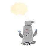 Retro cartoon tank robot Royalty Free Stock Photography