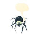 retro cartoon tarantula with speech bubble Stock Image
