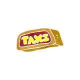 Retro cartoon taxi Stock Photos