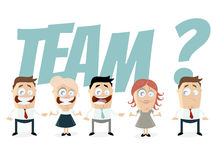 Retro cartoon team Royalty Free Stock Photo
