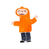 Retro cartoon teen in hooded top Stock Photo
